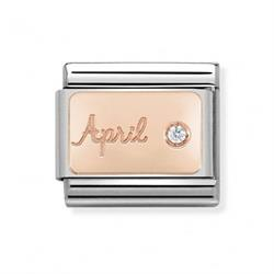 Rose Gold April Diamond Charm