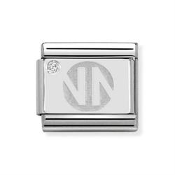 nomination silver logo charm
