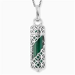 Sterling Silver Malachite Power Stone Necklace Engelsrufer