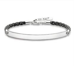 Magic Love Bridge Bracelet Black 18cm