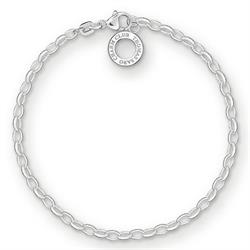 Buy Thomas Sabo Silver Thin Belcher Charm Bracelet, Large