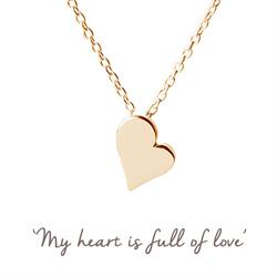 Heart Mantra Necklace in Gold