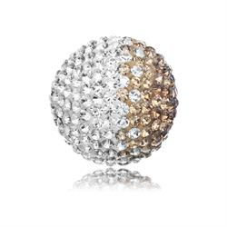 Brown and White Crystal Sound Ball Small