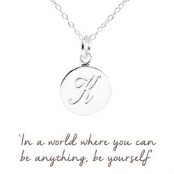 K Mantra Initial Necklace
