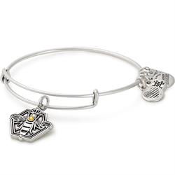 Queen Bee Bangle in Rafaelian Silver