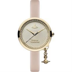 Vivienne Westwood Powder Pink Bow Leather Watch