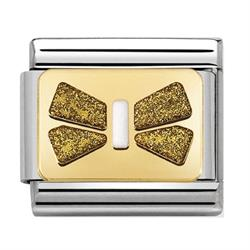 Gold Glitter Bow Plate