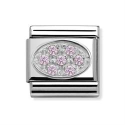 Buy Nomination Pink Oval CZ Pave