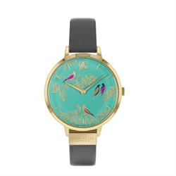 Chelsea Bird Watch, Gold and Turquoise