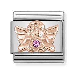 Rose Gold Angel of Friendship Charm