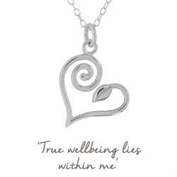 Dr Gemma Newman True Wellbeing Heart Necklace in Sterling Silver