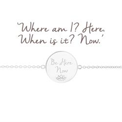 be here now silver bracelet