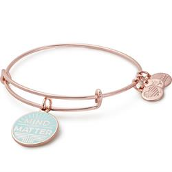 Mind Over Matter Colour Infusion Bangle in Shiny Rose Gold