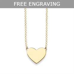 Glam & Soul Engravable Gold Heart Necklace
