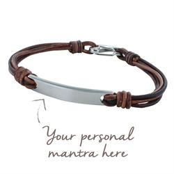 myMantra Personalised Men's Bracelet - Brown Multi-strand Leather