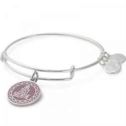 Just Breathe bangle in Shiny Silver