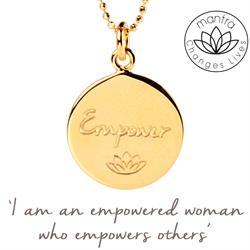 Buy Mantra Empower Care International Charity Necklace in Gold