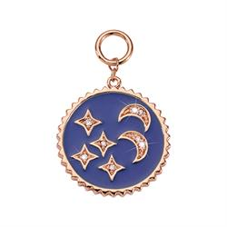 Rose Gold Blue Night Amulet