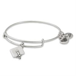 Graduation Cap 2018 Bangle in Rafaelian Silver