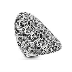 Infinity Pattern Silver & CZ Ring Size 56