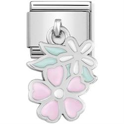 Hanging Flowers Charm by Nomination