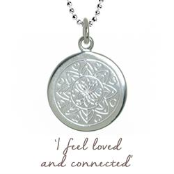 Love Mandala Necklace in Silver