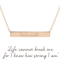 Holly Matthews Unbreakable Bar Necklace in Rose Gold