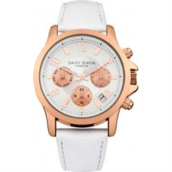 Adriana Multidial with White Leather Strap