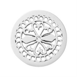 Silver Fancy Ornament Small Coin 23mm
