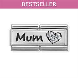 Nomination Mum CZ Double Link Charm