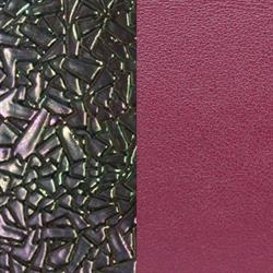 Wide Broken Glass Petrol / Cerise Leather