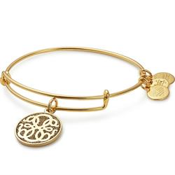 Path of Life Colour Infusion Bangle in Shiny Gold