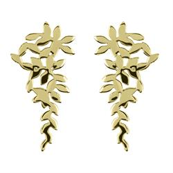 Large Gold Leaf Cluster Studs