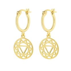 Solar Plexus Chakra Gold Drop Earrings