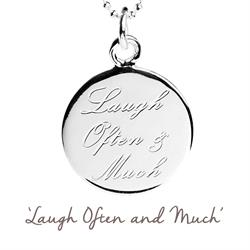 Laugh Often and Much Mantra Necklace in Silver