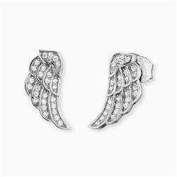 Mini CZ Angel Wing Earrings
