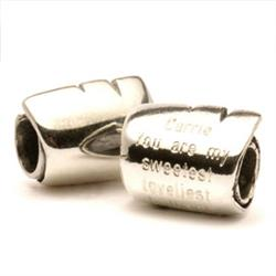 Little Scroll Silver Charm Bead