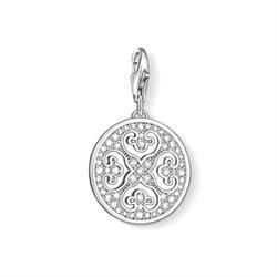 Silver Ornament Disc Charm