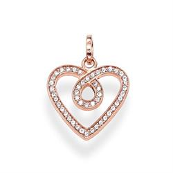 The Eternity of Love Rose Gold and CZ Heart Pendant