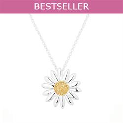 Vintage Daisy 18mm Pendant Necklace