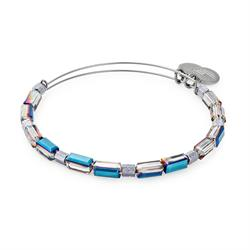Alex and Ani Silver Metallic Aurora Beaded Bangle