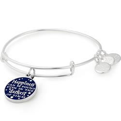 Harry Potter Happiness Bangle in Shiny Silver