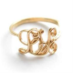 Alex Monroe Gold Love Ring Size L, M or N