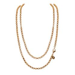 Yellow Gold 90cm Chain