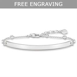 Buy Thomas Sabo Silver Bead Love Bridge Bracelet 18cm