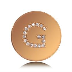 Letter G Small Gold Coin
