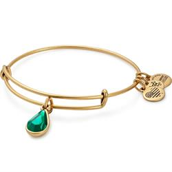 May Emerald Birthstone in Rafaelian Gold Finish