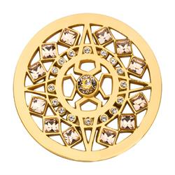Gold Swarovski Shooting Star coin 33mm