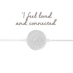 Love Mandala Disc Bracelet in Silver