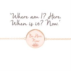 Be Here Now Disc Bracelet in Rose Gold